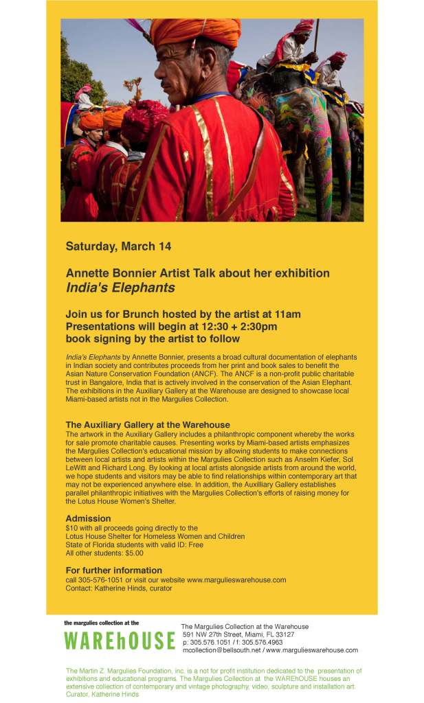 India's Elephants Artist Talk and Brunch
